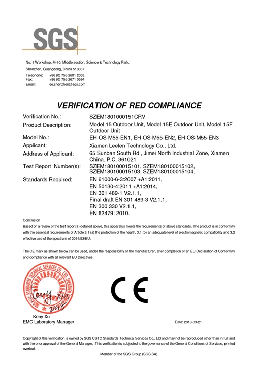 RED Certification